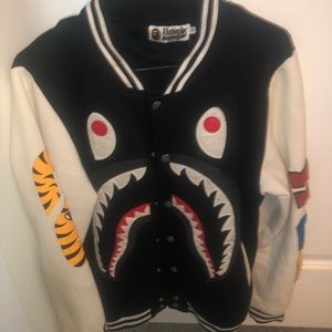 Bape shark varsity jacket